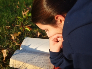 The pleasure of outdoor reading