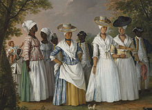 Free Women of Color with their Children and Servants, oil painting by Agostino Brunias, Dominica, c.1764-1796.